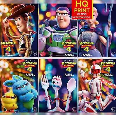Toy Story 4 International Character Posters Tom Hanks Movie 2019  | A4 A3 A2 A1