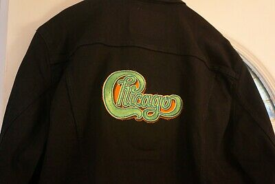 "Orig. 1970's embroidered ""Chicago"" patch on the back of New Levi Jacket + bonus"