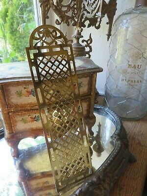 Charming Vintage French Brass Lattice Door Finger Plate ~  Period Projects