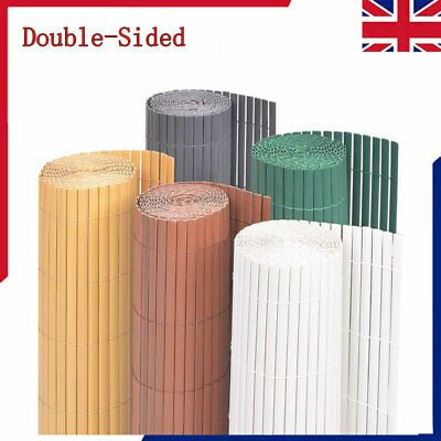 PVC Double-Sided Garden Fence Privacy Screen Barrier Screening Fencing Panel