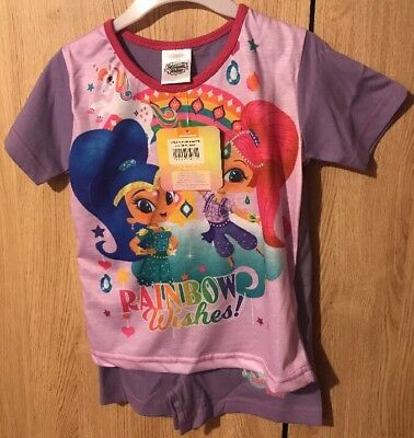 Girls Shimmer & Shine Pyjamas Pjs Age 3-4 Years Gift Present Summer Shorts