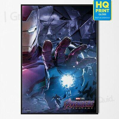 Avengers End Game Art Print Poster Iron Man Marvel 2019 Movie | A4 A3 A2 A1 |