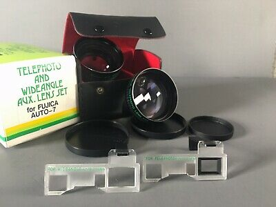 IOB Kalimar Wide Angle & Telephoto aux lens set for Fujica Auto-7 FREE SHIPPING