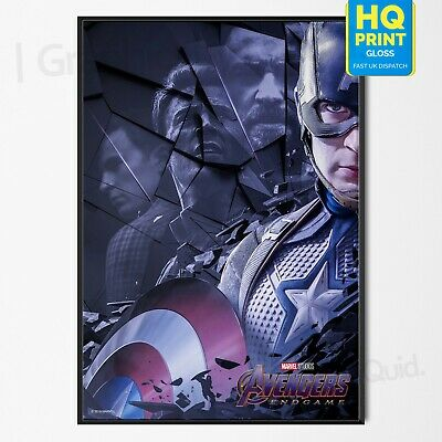 Avengers End Game Poster Captain America Marvel Movie 2019 Print | A4 A3 A2 A1 |