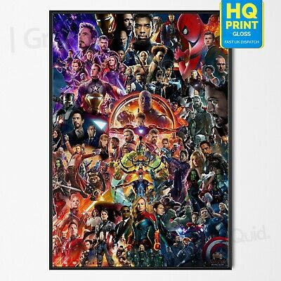 22 Marvel Cinematic Universe Poster COLLAGE Avengers End Game Movie A4 A3 A2 A1