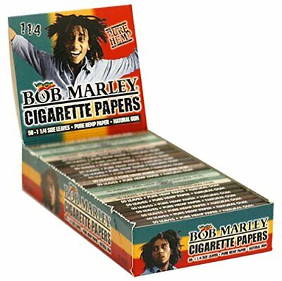 1x Pack of Bob Marley Rolling Paper 1 1/4 70mm Pure Hemp Cigarette Smoking Paper