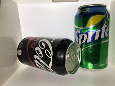 2 Pack Diversion Stash Can Safe Coca-Cola Zero and Sprite