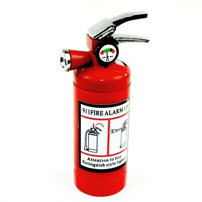 Refillable Butane Fire Extinguisher Lighter with LED Light