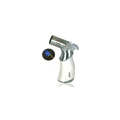 Zico Torch Quad Jet Flame Butane Torch Cigar Lighter 4 colors available (Silver)