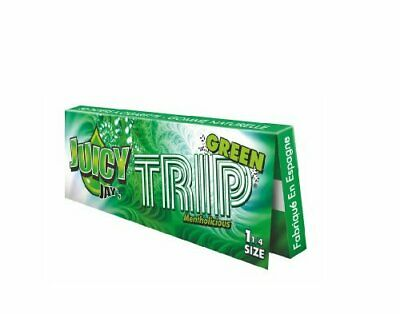 Juicy Jay's 1 1/4 Rolling Papers Mentholicious Green Trip - 24 Packs