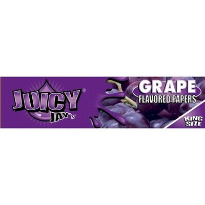 Juicy Jay's Flavored Papers 32 Leaves Kingsize Grape Pack Of 1
