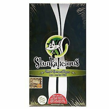 Skunk Rolling Papers Hemp 1 1/4 32 Leaves Skunkalicious Flavor Pack Of 24