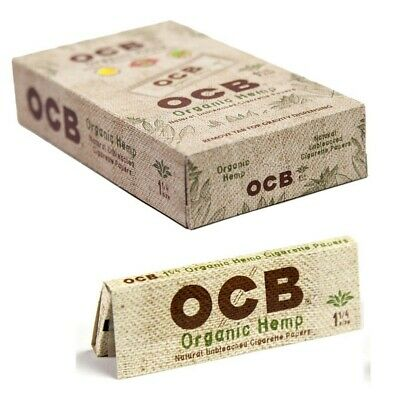 Ocb Rolling Papers Organic Hemp W/ Tips 1 1/4 50 Leaves Unflavored Pack Of 24