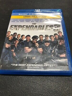 The Expendables 3 Unrated Edition Bluray And DVD Disc Movie Set Without Digital