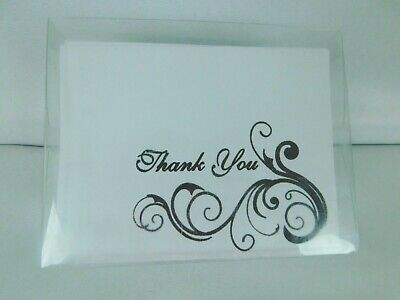 Studio His & Hers Thank You Cards Classy Black & White Floral  50 Count
