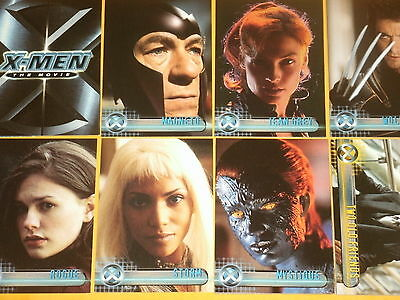 Marvel Comics X-MEN 'The Movie' Base Set of 72 Topps Trading Cards Wolverine