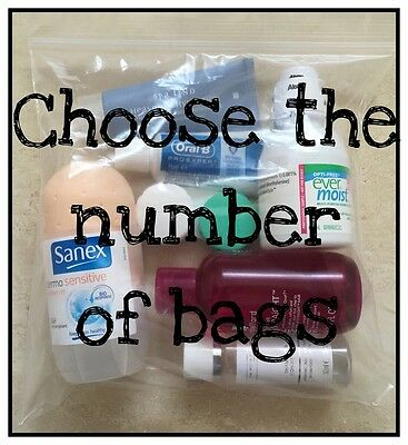 Clear Carry-on Aeroplane Travel Resealable Plastic Pouch Bags - 100ml liquids