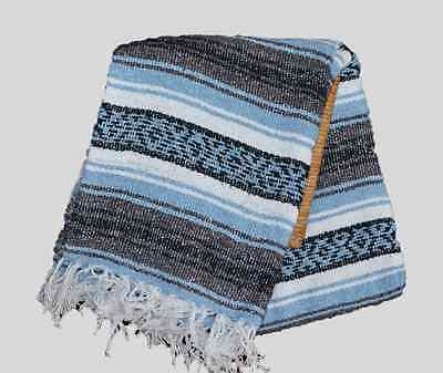 MEXICAN Falsa Blanket Yoga Mat NEW Size 75 * 55 inch Color Light blue.