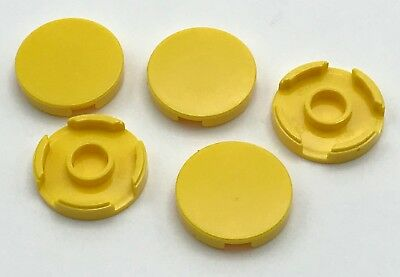 Lego 5 New White Tiles Round 2 x 2 with Open Stud Parts
