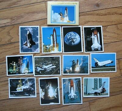 Vintage Space Shuttle Collection of 12 Mini Pictures From 1980's