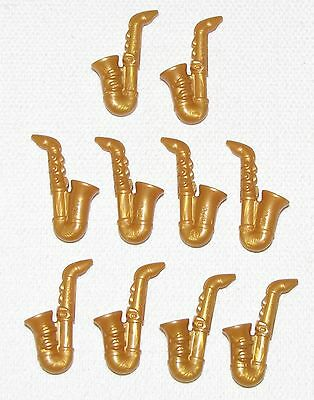 Jazz Minifigure Musical Band Instrument NEW Lego Minifig Pearl GOLD SAXOPHONE