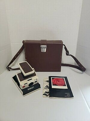 Polaroid SX-70 Land Camera Model 2 White W/ Polaroid Carry Case - Tested