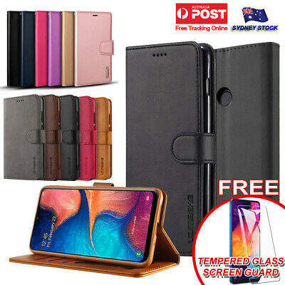 F Samsung Galaxy A20 A30 A50 A70 Premium PU Leather Wallet Flip Phone Case Cover