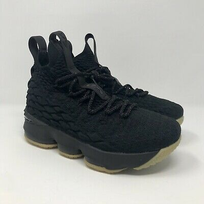 online retailer 190af a7858 Nike Lebron XV 15 GS Black Gum Youth Size 5Y Basketball Shoes 922811-001 NEW