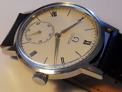 VINTAGE 1940 WWII OMEGA cal.30T2 Roman Dial Case 35mm Swiss Men's Watch Serviced