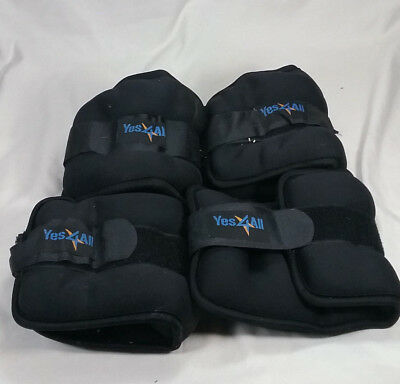 Yes4All 266X Ankle Weight 5 LB 2 Pairs Black 4 Total