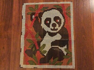 Vintage Valiant Rug Canvas Pattern Panda #7406 18 x 24 inches