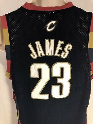 84dd9e711 ADIDAS CLEVELAND CAVALIERS JERSEY  23 LEBRON JAMES CAVS NBA SWINGMAN Size  LARGE