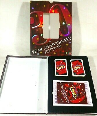 Mattel UNO 30 Year Anniversary Edition Family Fun Card Game - 2001 - Complete
