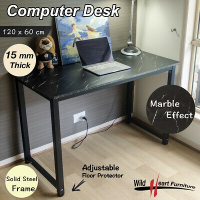 Computer Desk Study Office Table Black Marble PC Laptop Table Student Home Writi