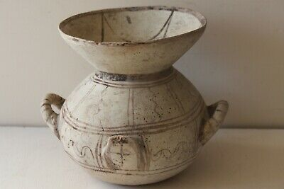 GOOD ANCIENT GREEK DAUNIAN  POTTERY OLLA CRATER 6th CENTURY BC