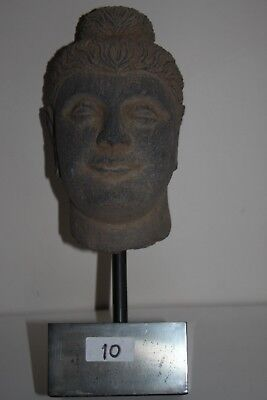 Ancient Indo Greek Buddhist  Buddha  Head 200/400 Ad