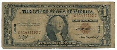 1935 A US Silver Certificate Dollar $1 Hawaii Brown Seal Note