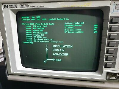 Hp 53310A Modulation Domain Analyzer W/ Opt 001 / 031 (R6S4.5)
