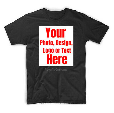Personalized Print Your Own Custom  Text On A T-Shirt Customized Tee Men's