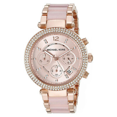 Women's Watch Michael Kors MK5896 Parker Dress Watches Quartz Rose Gold Tone