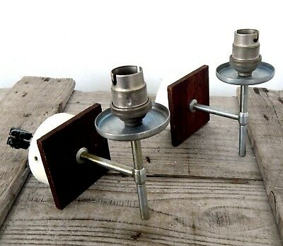 Vintage Pair Mid Century Wall Lights Lamps 1950s Modernist Retro 50s