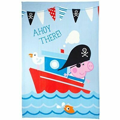 Peppa Pig George Pirate Fleece Blanket, Multi-Colour, Bed Throw Matches Bedding