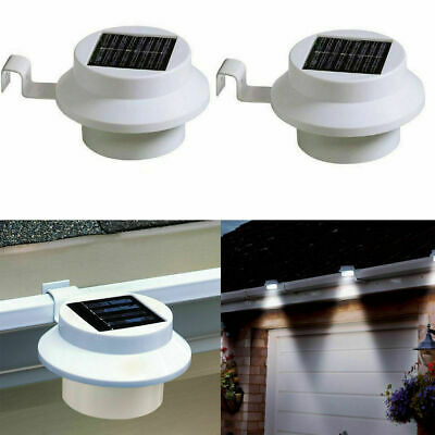 4 Pack Solar Power LED Gutter Spot Light Outdoor Garden Fence Shed Roof Lamp