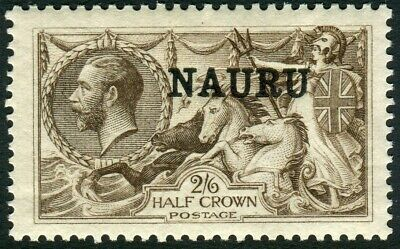 NAURU-1919 2/6 Chocolate Brown.  A lightly mounted mint example Sg 24