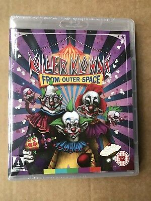Killer Klowns From Outer Space Arrow Video Blu Ray New & Sealed