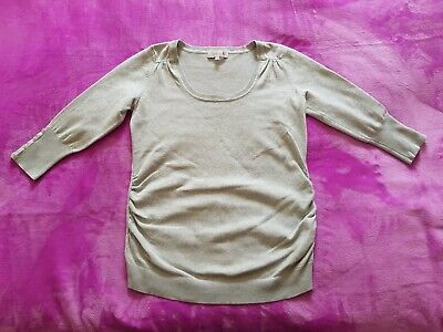 Red Herring maternity Size 8 fine knitted jumper top - Light grey