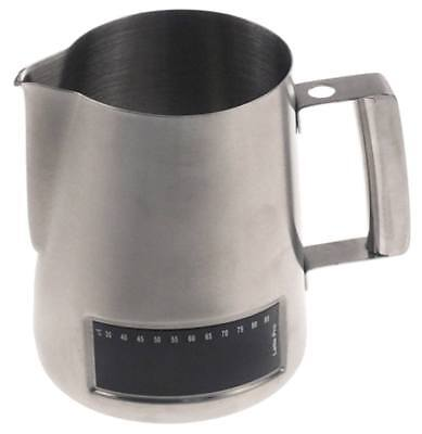 Milk Jug with Thermometer Ø 115mm Height 135mm 1l Stainless Steel