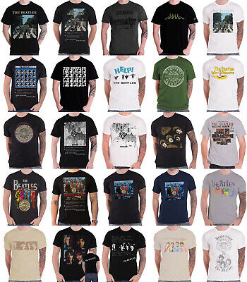 Official The Beatles T Shirt Albums Revolver Abbey Road Sgt Pepper Help! Mens