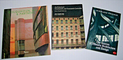 Lot of 3 Books on Modern Architecture and Design 19th and 20th Century Pevsner