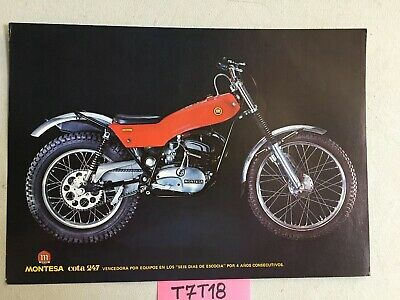 Montesa Cota 123 172 247 trial  moto prospectus catalogue publicité brochure